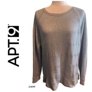 Apt 9 Gray studded pullover top